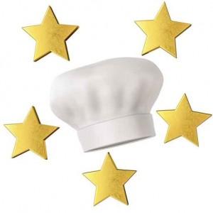 Kochmütze fünf Sterne